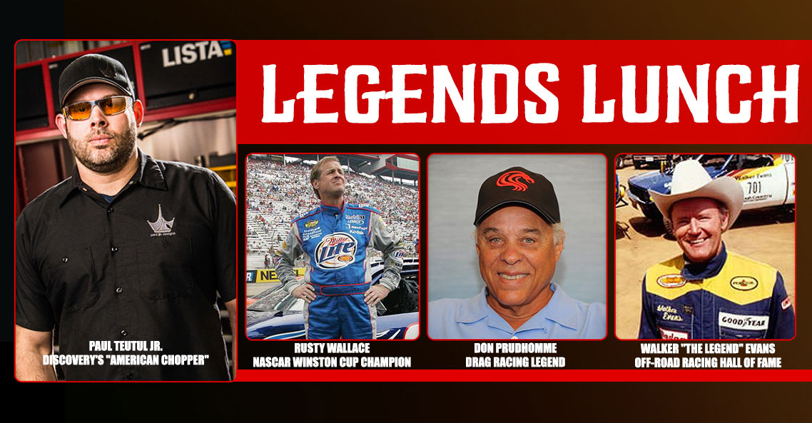 Paul Teutul Jr., Rusty Wallace, Don Prudhomme and Walker Evans  for an Intimate Lunch Prior to the Legends Ride®